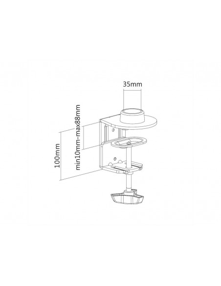 Multibrackets M Basic Clamp for Single/Dual/Triple/Quad Arm Multibrackets 7350073735440 - 2