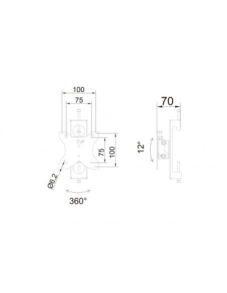 Multibrackets M Monitor Mount Flex Pro 75/100 Multibrackets 7350073736294 - 8