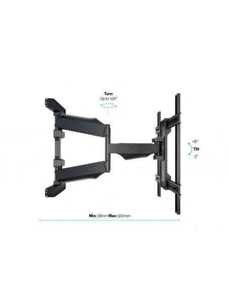 """Multibrackets 6317 kyltin näyttökiinnike 2.16 m (85"""") Musta Multibrackets 7350073736317 - 12"""