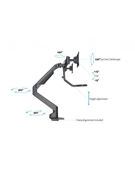 Multibrackets M VESA Gas Lift Arm w. Duo Crossbar 2 Black Multibrackets 7350073736355 - 16