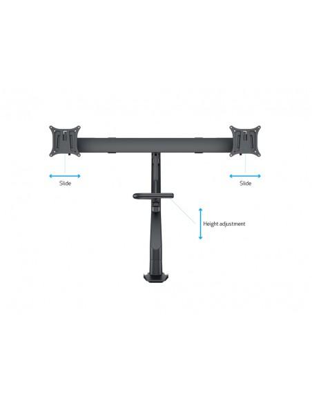 Multibrackets M VESA Gas Lift Arm w. Duo Crossbar 2 Black Multibrackets 7350073736355 - 17
