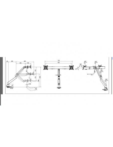 Multibrackets M VESA Gas Lift Arm w. Duo Crossbar 2 Black Multibrackets 7350073736355 - 19