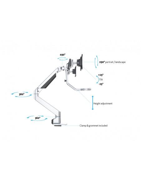 Multibrackets M VESA Gas Lift Arm w. Duo Crossbar 2 Silver Multibrackets 7350073736362 - 17
