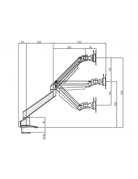 """Multibrackets 6362 monitorin kiinnike ja jalusta 71.1 cm (28"""") Puristin Hopea Multibrackets 7350073736362 - 19"""