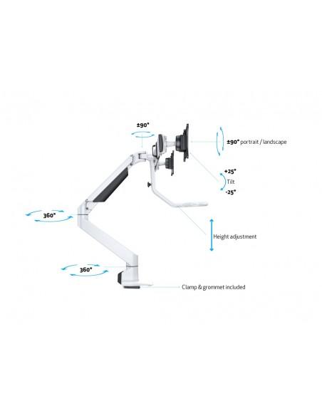 Multibrackets M VESA Gas Lift Arm w. Duo Crossbar 2 White Multibrackets 7350073736379 - 17