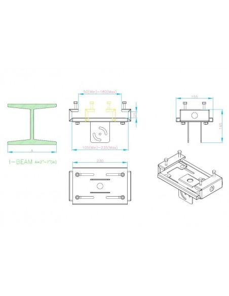 Multibrackets M Pro Series - I-Beam Clamp Multibrackets 7350073736386 - 4