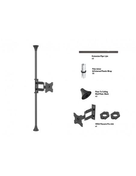 """Multibrackets 6393 fäste för skyltningsskärm 116.8 cm (46"""") Svart Multibrackets 7350073736393 - 7"""