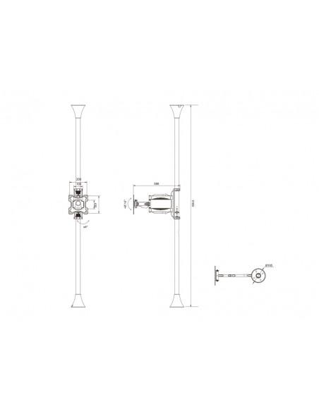 """Multibrackets 6393 kyltin näyttökiinnike 116.8 cm (46"""") Musta Multibrackets 7350073736393 - 15"""