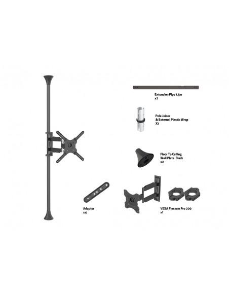 """Multibrackets 6409 kyltin näyttökiinnike 139.7 cm (55"""") Musta Multibrackets 7350073736409 - 6"""