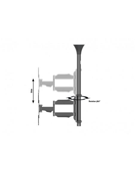 """Multibrackets 6423 fäste för skyltningsskärm 106.7 cm (42"""") Svart Multibrackets 7350073736423 - 9"""