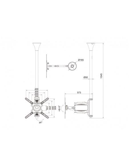 """Multibrackets 6423 kyltin näyttökiinnike 106.7 cm (42"""") Musta Multibrackets 7350073736423 - 15"""
