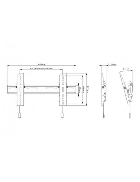 "Multibrackets 6560 tv-fäste 165.1 cm (65"") Svart Multibrackets 7350073736560 - 9"