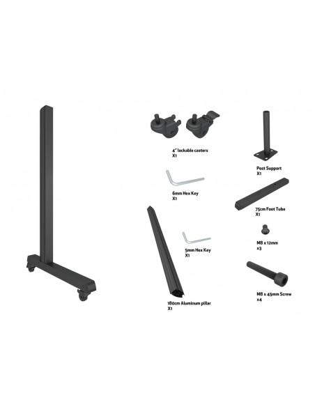 Multibrackets M Pro Series - Wheelbase 180cm inc castors Multibrackets 7350073736591 - 7
