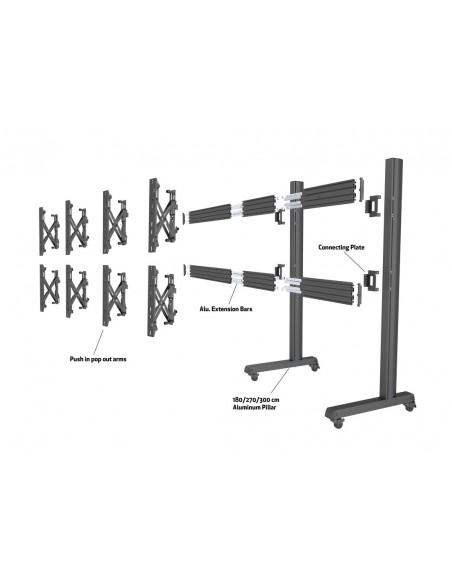 Multibrackets M Pro Series - Wheelbase 180cm inc castors Multibrackets 7350073736591 - 9