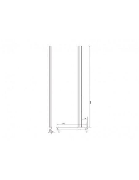 Multibrackets M Pro Series - Wheelbase 300cm inc castors Multibrackets 7350073736614 - 8
