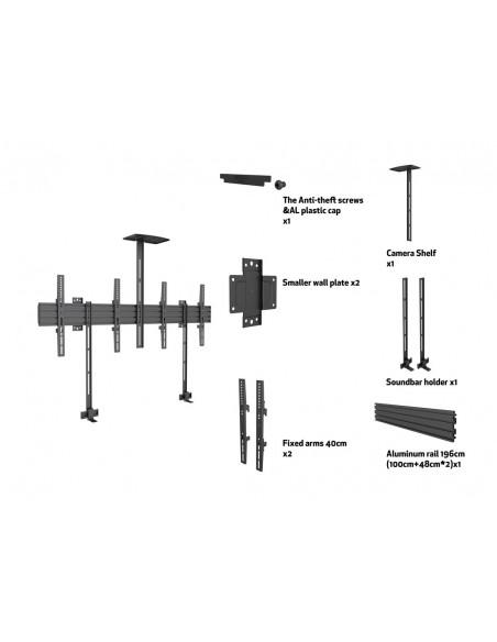 """Multibrackets 6621 kyltin näyttökiinnike 165.1 cm (65"""") Musta Multibrackets 7350073736621 - 7"""