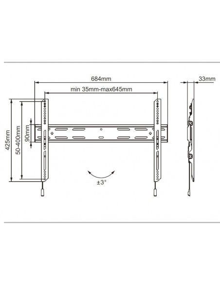 "Multibrackets 6683 signage display mount 190.5 cm (75"") Musta Multibrackets 7350073736683 - 5"