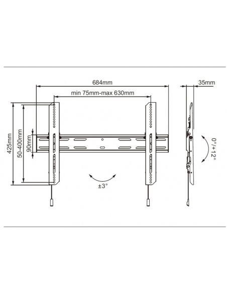 Multibrackets M Universal Wallmount Outdoor Tilt 600 MAX Multibrackets 7350073736690 - 6
