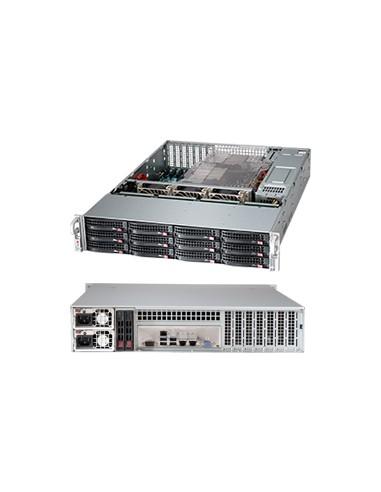 Supermicro CSE-826BA-R920LPB tietokonekotelo Teline Musta 920 W Supermicro CSE-826BA-R920LPB - 1