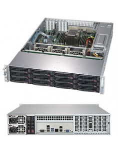 Supermicro SuperStorage Server 5029P-E1CTR12L Intel C622 LGA 3647 (Socket P) Rack (2U) Svart Supermicro SSG-5029P-E1CTR12L - 1