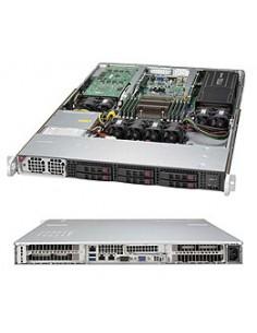 Supermicro SuperServer 1018GR-T Intel® C612 LGA 2011 (Socket R) Teline ( 1U ) Musta, Hopea Supermicro SYS-1018GR-T - 1