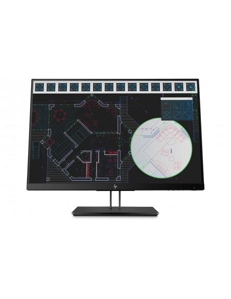 "HP Z24i G2 61 cm (24"") 1920 x 1200 pikseliä WUXGA LED Musta Hp 1JS08A4#ABB - 1"